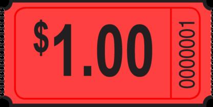 1 dollar Roll Ticket Red