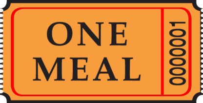 One Meal Roll Ticket Orange